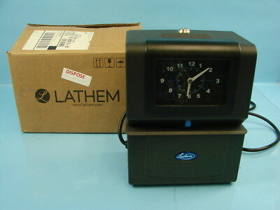 lathem automatic time clock model 4001 analog display no key rh picclick com