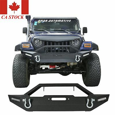 1987-2006 Jeep Wrangler YJ/TJ Offroad Front Bumper with Winch Plate & Led Light