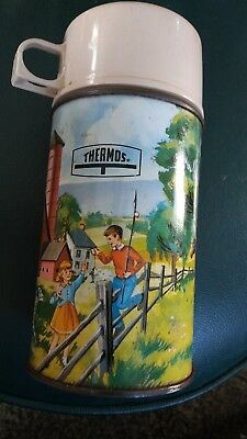 Vintage 1962 King-Seeley Pets Pals Thermos Bottle  Horse Farm Thermos