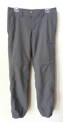 Columbia Titanium Omni Shade Gray Convertible Hiking Pants Womens Size 10 VGC