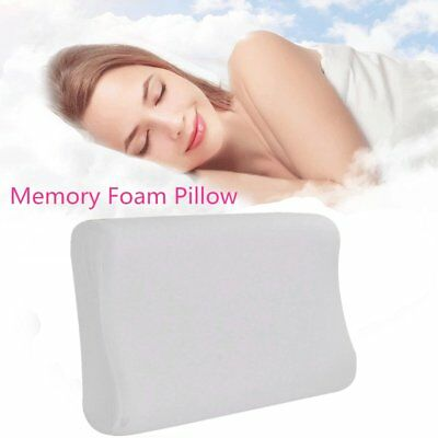 Luxury Bamboo Pillow Anti Bacterial Memory Foam Fabric Cover 50 X 30CM B#
