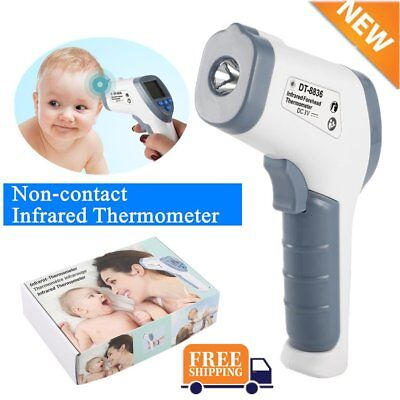 Digital IR Infrared Thermometer Baby Forehead LCD Non-Contact Temperature SN