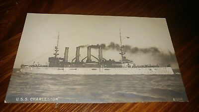 Early U.s.s. Charleston Postcard