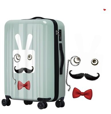 D333 Gentleman Rabbit Universal Wheel ABS+PC Travel Suitcase Luggage 24 Inches W