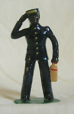 Porter w/whisk broom, Standard Gauge model train figure for Ives, Dorfan, etc.