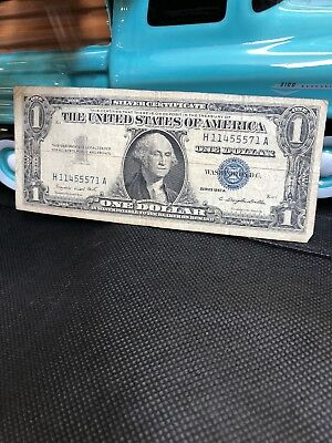 1957 A One $1 Dollar Silver Certificate Notes Old US Currency