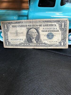 1957A One $1 Dollar Silver Certificate Notes Old US Currency