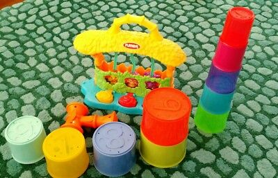 Playskool Pop Up Jungle With Sounds And Tower Building Cups