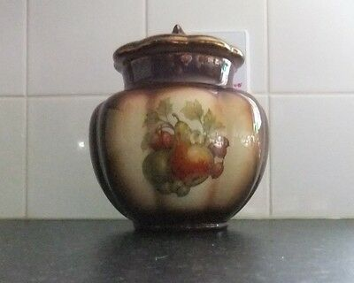 Staffordshire OldCourt Ware Decorative  Pottery Bowl/Dish with Lid. c1970-1998