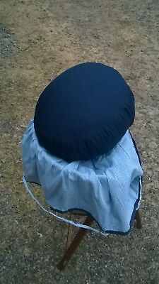 Spherical lace making pillow, with bobbin cover and it's own bag - looks new
