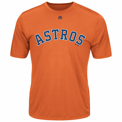 Majestic MLB Astros Youth Evolution Tee T-Shirt Orange