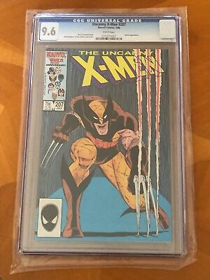 Uncanny X-Men #207 (July, 1986, Marvel) CGC graded 9.6 NM+ White Pages