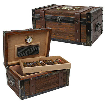 Steampunk 100-ct Trunk Humidor