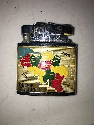 Vtg Robin Europe Holland Belgie Belgique Lighter Souvenir
