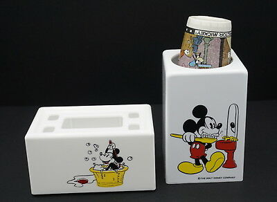 Mickey Mouse Dixie Cup Dispenser and Bathroom Caddy mint unused