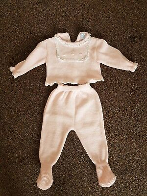 Patachou baby girl pink knitted spanish set 0-3 months