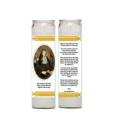 Set of Two Candles Prayer Comfort for Those Who Have Suffered a Miscarriage or p