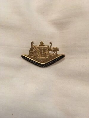 Back To Inglewood 1927 Badge Pin Brooch Vintage Stokes And Sons Melbourne