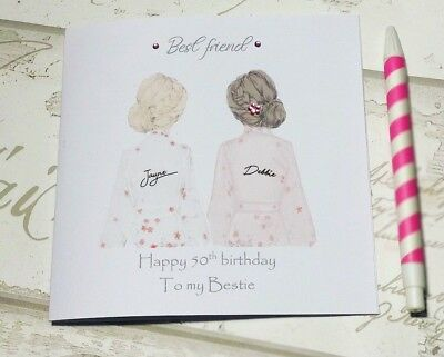 Beautiful Birthday Card For Best Friend Sister Cousin Etc 25th 30th 35th 40th