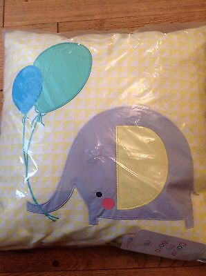 Elephant Design Cushion / Pillow From Colour My World Range At Mothercare ..BNWT
