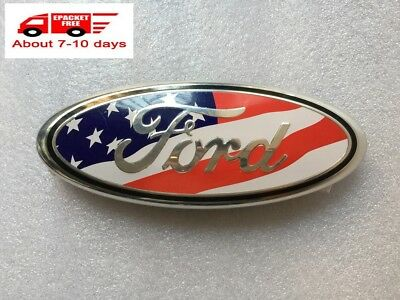 NEW 2004-2014 FORD F150 Front Grille Emblem Oval Decal Badge Nameplate USA Flag