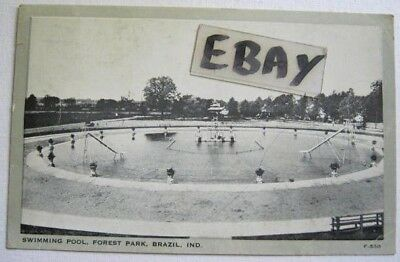 Swimming Pool At Forest Park, Brazil, In 1930-1945