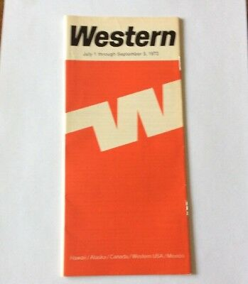 Western Airlines system timetable July 1 1972