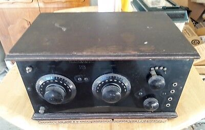 1920s Two Dial Battery Radio by Transcontinental/Chelsea Type ZR-4...Look...Read