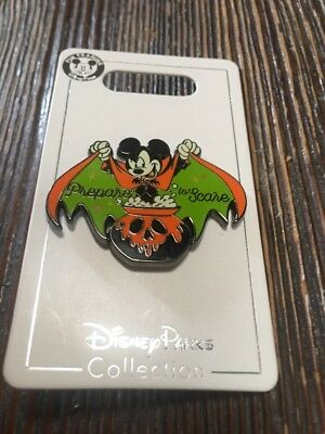 """Disney Parks Halloween 2018 Trading Pin Mickey Mouse Vampire """"Prepare To Scare"""""""