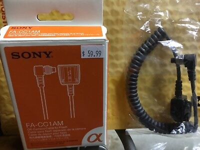 New Genuine Sony FA-CC1AM Off-Camera Cable for Flash