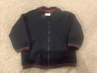 Mamas and Papas Baby Boy Zip Up Top 6-9 Months