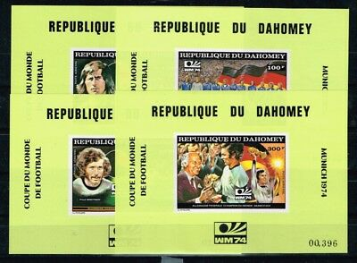 Dahomey.1974 World Cup.4 De luxe.Soccer.Football.Fussball.MNH**