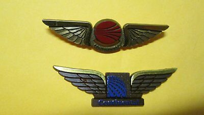 2 Different Types of VINTAGE CONTINENTAL AIRLINES CHILDS PILOT WINGS, NEW.