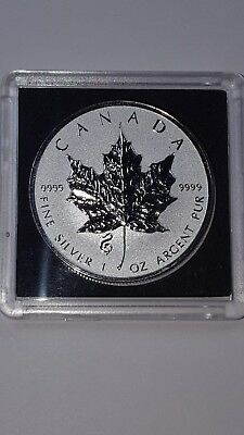 2013 1 oz .9999 Reverse Proof Silver Canadian Maple Leaf Coin - Horse Privy