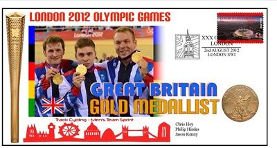 BRITAIN 2012 OLYMPIC TRACK CYCLING GOLD Cv, CHRIS HOY