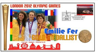 Emilie Fer 2012 Olympic France Canoe Gold Medal Cover