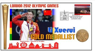 Li Xuerui 2012 Olympic China Badminton Gold Medal Cover