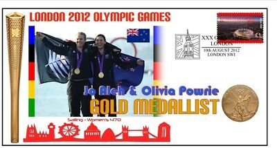 Nz 2012 Olympic Womens Sailing Team Gold Medal Cover