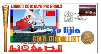 China 2012 Olympic Womens Laser Sailing Gold Medal Cov