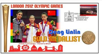 DENG LINLIN 2012 OLYMPIC CHINA GYMNASTICS GOLD MEDAL Cv
