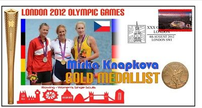 Knapkova 2012 Olympic Czech Rowing Gold Medal Cover