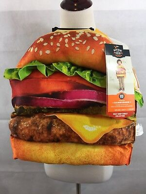 Hamburger Costume Toddler NWT Foam Deluxe 3D Adjustable One Size New Lettuce