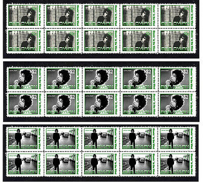 Bob Dylan 'blowin In The Wind' Set Of 3 Stamp Strips 1
