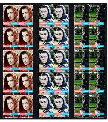 Sinead O'connor Irish Icon Set Of 3 Stamp Strips 1