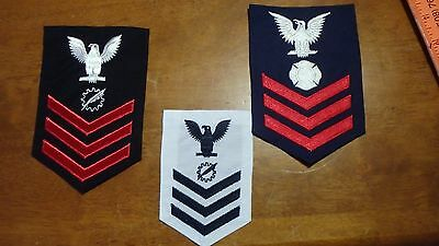 United States Navy Shoulder Patch  Uniform  Rank Insignia 3 Patches   Bx 5 #4