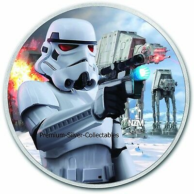 """2018 Niue Star Wars Series """"Stormtrooper"""" - 1 Ounce Pure Silver .999 Coin!!"""