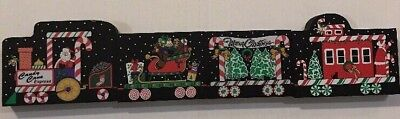 4 pieces Cat's Meow Christmas Train 'Candy Cane Express 2001