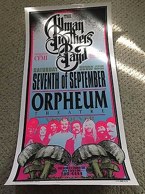 Allman Brothers Band Seventh Of September Orpheum Vancouver Poster Arminski