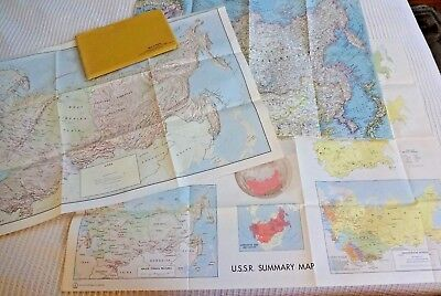 Lot of 3 Maps of the USSR Russia 2 CIA Maps 1971 & Nat Geo Map 1967 Eastern USSR