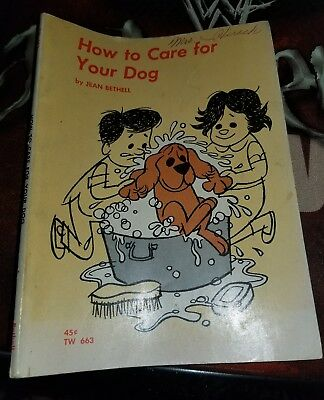 Jean Bethell HOW TO CARE FOR YOUR DOG vintage 1964 1st printing Scholastic 1st